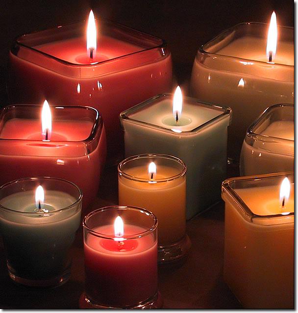 شمع ظرف دار