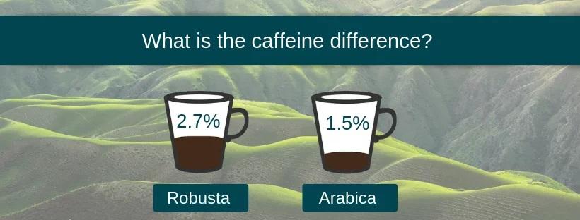 کافئین قهوه روبوستا و قهوه عربیکا