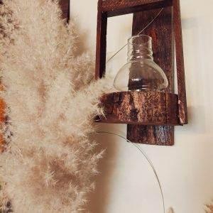 خرید گلدان چوبی آویز