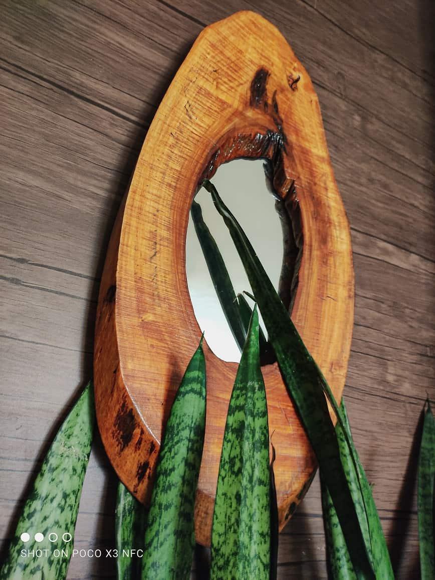 خرید آینه چوبی
